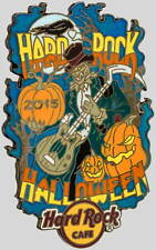 Hard Rock Cafe ONLINE 2015 HALLOWEEN PIN Creepy Scarecrow w/ Guitar LE 100 New!