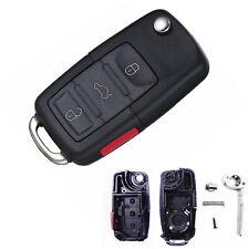 Flip Remote Key Case Shell for Volkswagen Beetle Jetta Passat Golf Rabbit MK4 CC