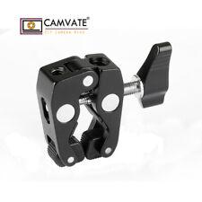 "CAMVATE Crab Clamp 1/4""-20 3/8""-16 Mount Hole for Camera ArticulatingArm Monitor"