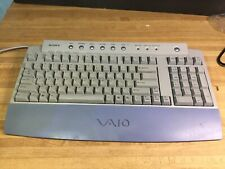 SONY keyboard PCVA-KB1P/UB great condition 100 key mechanical PS/2 wired TESTED