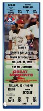 1999 Toronto Blue Jays Tampa Bay Devil Rays 4/13 Ticket Jose Cruz HR *ST1P
