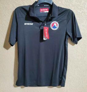AHL Polo Dri-Fit Shirt CCM Black Men's Small American Hockey League Canada Cycle