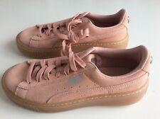 PUMA Suede Damen/Mädchen Wildleder Sneaker Schuhe mit Schmuck Plateau 37,5 NEU