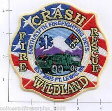 Washington - Fort Lewis WA CFR Wildland Fire Dept Patch  506th / 537th Detail