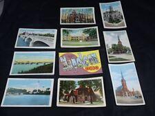 Napoleon Ohio Set of 10 Postcards Maumee River Bridge Courthouse Churches UNUSED