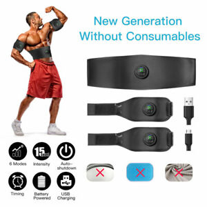 Electric ABS Muscle Stimulator Belt EMS Abdominal Waist Training Slimming Body