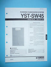 Service Manual for Yamaha Yst-Sw45 ,Original