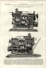 1890 ANGOLO FERRO la smussatura MACCHINA Davis Primrose Leith