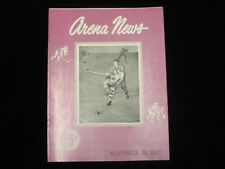 November 29, 1947 AHL Hockey Program Buffalo Bisons @ Philadelphia Rockets EM/NM