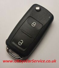 VW Volkswagen 7E0837202 2 Button Remote Key Fob Blade HU66 Case Cover