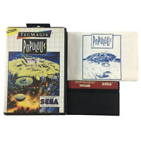 Populous Sega Master System Game In Case With Manual