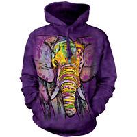 The Mountain Adult Unisex Fleece Hoodie Russo Elephant Sweatshirt S - M - 2X