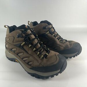 Merrell Boots Mens Size 13 Brown J86171W Leather Waterproof Vibram Sole