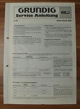 Dispositivo musicale sono-clock 600 Grundig Service Manual Istruzioni di servizio