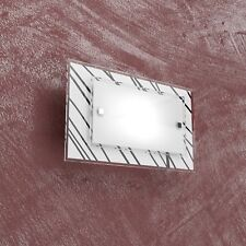 Applique parete rettangolare design moderno decoro bianco nero sala bagno cucina