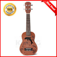 HOT SALE Ekulele Pro 21 Inch Soprano Ukulele Uke Hawaii Guitar Sapele 15 Fret