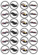 F1 Race Cars Edible PREMIUM THICKNESS SWEETENED VANILLA, Wafer Rice Paper