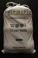 Feltastic Wool Dryer Balls 6 Pack  XXL Size 7.6 cm diameter **Huge Saving**