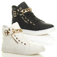 WOMENS LADIES LACE UP HI HIGH TOP PUMPS TRAINERS SNEAKERS SHOES ANKLE BOOTS SIZE
