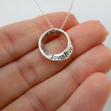 Small Love Mobius Necklace - 925 Sterling Silver - Infinity Gift NEW