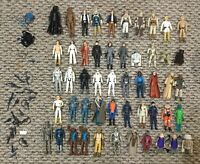 VINTAGE STAR WARS ACTION FIGURE LOT (51) BLUE SNAGGLETOOTH LUKE LEIA PLUS EXTRAS