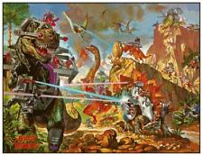 "Dino-Riders * 24"" POSTER * - Cartoon MARVEL Action Universe"
