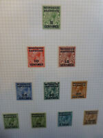 BRITISH COMMONWEALTH MOROCCO AGENCIES GEO. V FRENCH CURRENCY 10 STAMPS 1925-34