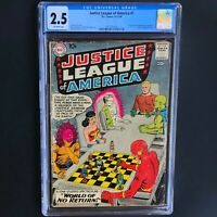 JUSTICE LEAGUE of AMERICA #1 (DC 1960) 💥 CGC 2.5 OW PGs 💥 SILVER AGE KEY!