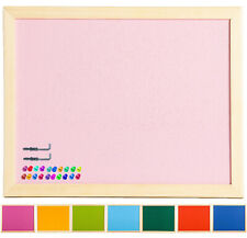OfficeCentre® 40x30cm Coloured Wall Cork Notice Pin Board Memo +Fixings +20 Pins