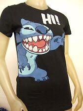 Cute Nwt Juniors L Black Lilo And Stitch Saying Hi Alien Disney Fitted Tee Shirt