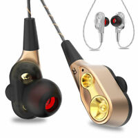 HIFI In-Ear Super Bass Stereo Earphone Earbuds Sports Headphone Headset With Mic