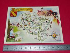 CHROMO 1920-1925 CARTE LION NOIR PROVINCES DE L'EST FRANCE ALSACE LORRAINE