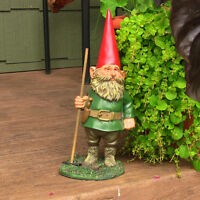 Sunnydaze Woody Jr the Gnome - Small Lawn and Garden Decor - 13.5-Inch