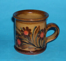 Alan Frewin Millhouse Pottery - Attractive Floral Coffee Can Type Mug (M.Mark).