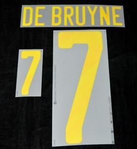Official Belgium De Bruyne euro 2020 Football Shirt Name/Number Set Home