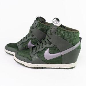 Nike Dunk Sky Hi Hidden Wedge Heel Shoes High Sneakers Size 10 Green 528899-302