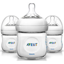 PHILIPS Avent 3 Pack 4oz Natural Baby Bottle - Clear -...