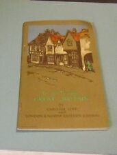 1920's Cunard Cruise Ship Line To and Through Great Britain Travel Guide Book