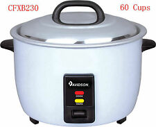 Davidson Commercial (15 Amp power) Rice Cooker 9L Cooking/Keep Warm 60 Cups