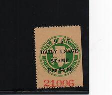 1957 ILDU-5A Illinois State Daily Usage Waterfowl $4 Stamp Hunt Revenue Pheasant