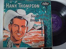 LP 25 cm HANK THOMPSON-SONGS OF THE BRAZOS VALLEY-YESTERDAY'S GIRL + 7