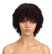 (bbccp4) brown colour 4 ombre bob pixie brazilian human hair kinky curly wig