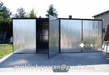 Blechgarage Doppelgarage Metall Halle Magazin Lagerhalle Fertiggarage 6x5,1x2,14