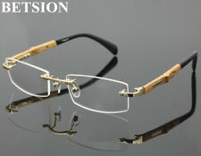 Titanium Rimless Myopia NEARSIGHTED Distance Wooden GLASSES Minus Eyeglass Frame