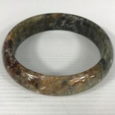 Vintage Mixed Agate Moss Agate Bangle Interior Diameter 6.6cm Height 17.5mm