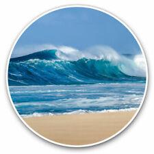 2 x Vinyl Stickers 25cm - Waves Beach Seaside Ocean Cool Gift #2467