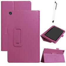 For Amazon Fire HD 8 (7th Gen) 2017 New Folio Leather Stand Case Cover Purple