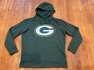 Green Bay Packers Hooded Sweatshirt by Antigua Men's Large Polyester/Cotton