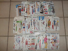 Vintage 1970-1980s McCall's Simplicity Butterick Sewing Patterns Lot2 Most Women