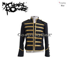 My Chemical Romance The Black Parade Gold Black Military Jacket Cosplay Costume